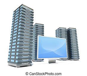 fattoria, server, monitor, hosting