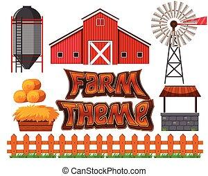 fattoria, set, scena