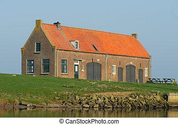 fattoria, vecchio, olandese