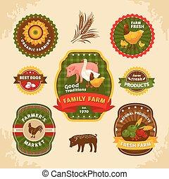 fattoria, vendemmia, etichette