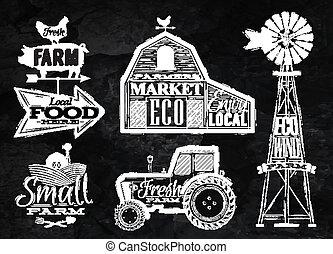 fattoria, vendemmia, gesso