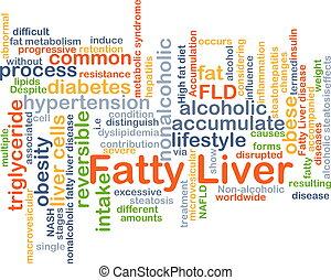 Fatty liver background concept - Background concept...