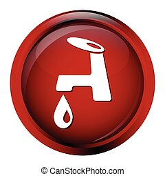 Faucet icon sign