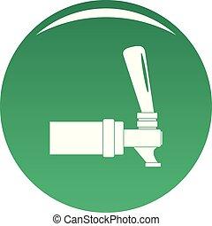 Faucet icon vector green