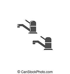 Faucet, tap, spigot, icon design template