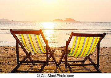 faulenzer, sonne, strand., meer