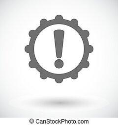 Faulty transmission. Single flat icon on white background. Vector illustration.