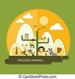 fauna, animais, proteção, e, conservação
