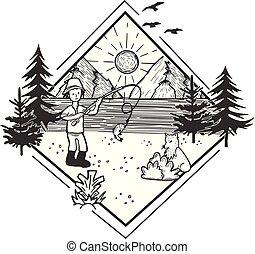 fauna, foresta, paesaggio, natura