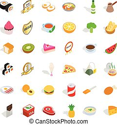 Fauna icons set, isometric style