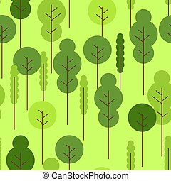 fauna, natuur, seamless., model, ornament., textuur, achtergrond., bos, baby, spotprent, doek