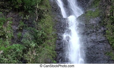Fautaua Waterfall in French Polynesia on Tahiti Island.