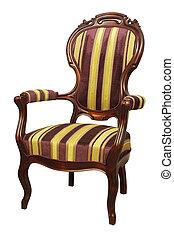 fauteuil, baroque, rokoko, raie