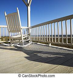 fauteuil bascule, porch.