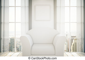 fauteuil, blanc