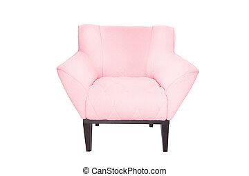 fauteuil, concepteur, moderne, tissu, bois
