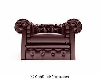 fauteuil cuir, royal