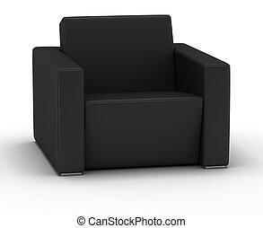 fauteuil cuir, unique