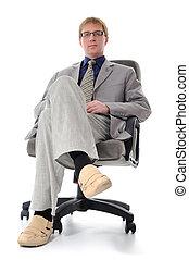 fauteuil, homme