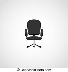 fauteuil, icon., vecteur, informatique