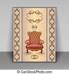 fauteuil, meubles, article luxe