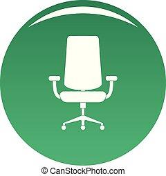 fauteuil, nouveau, vecteur, vert, icône