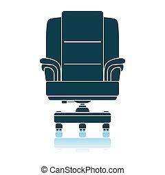 fauteuil, patron, icône