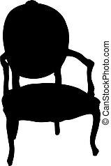 fauteuil, retro