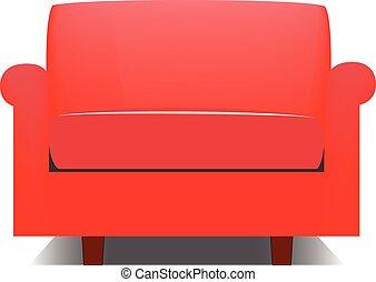 fauteuil, rouges
