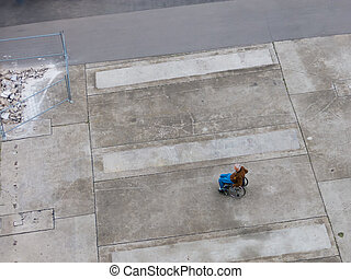 Fauteuil roulant, gauche