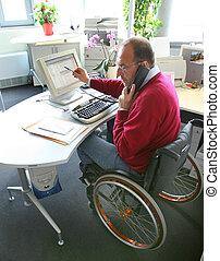 fauteuil roulant, homme