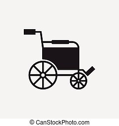 fauteuil roulant, icône