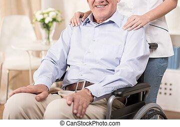 fauteuil roulant, séance