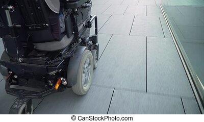 fauteuil roulant, suivre, résolution, accessibilité, dos, ...