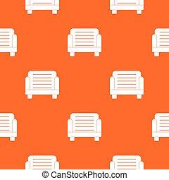 fauteuil, seamless, modèle