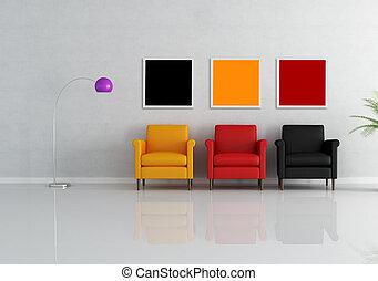 fauteuil, trois