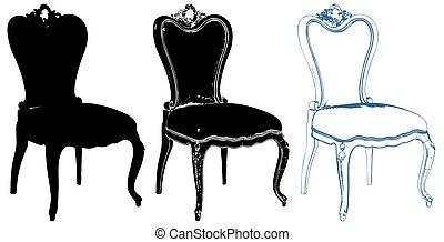 fauteuil, vecteur, 64.eps