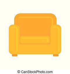 fauteuil, vecteur, illustration