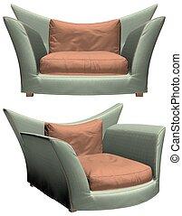 fauteuil, vecteur, moderne, 32.eps