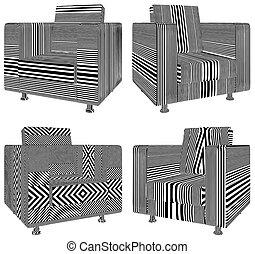 fauteuil, vecteur, moderne, 34.eps