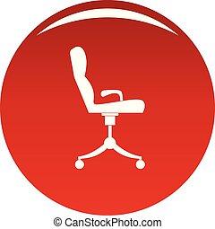 fauteuil, vecteur, rouges, icône