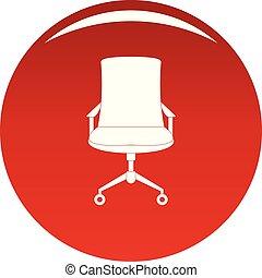 fauteuil, vecteur, vieux, rouges, icône