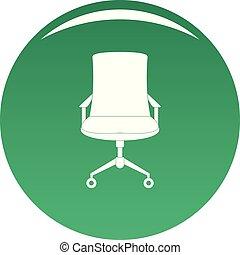 fauteuil, vecteur, vieux, vert, icône