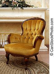 fauteuil, velours