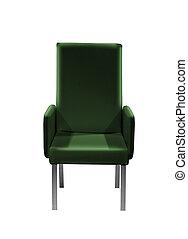 fauteuil, vert, facile