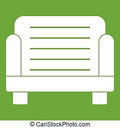 fauteuil, vert, icône