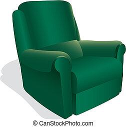 fauteuil, vert