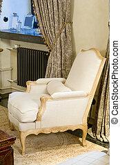 fauteuil, vieux, appelé