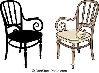 fauteuils, deux