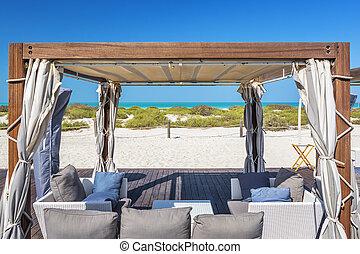 fauteuils, plage